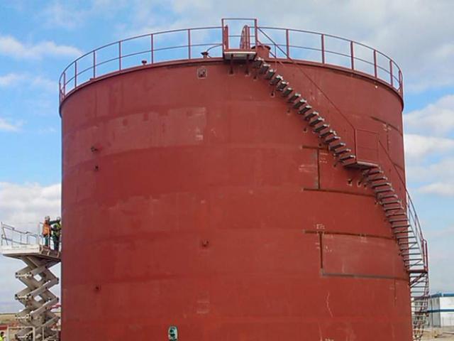 DEPÓSITOS ATMOSFÉRICOS PARA PROYECTO DE ALMACENAMIENTO SUBTERRANEO DE GAS NATURAL EN VINARÓS (CASTELLÓN) SENER DIVISION GAS.