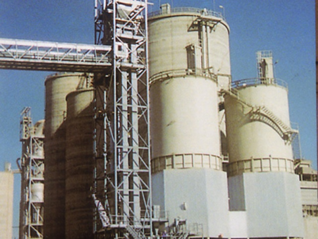 STRUCTURE AND SILOS FOR CEMENT FACTORY